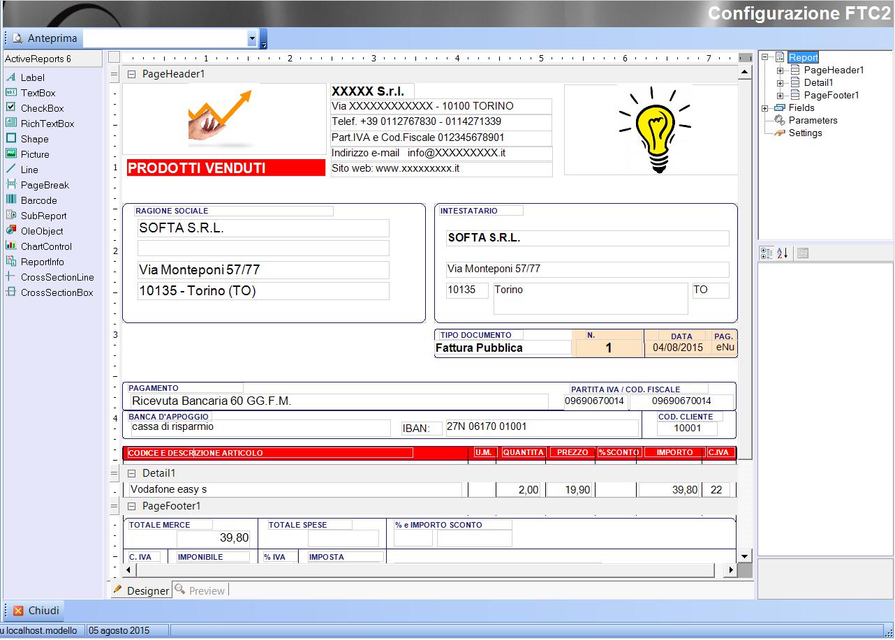 Come configurare i report softa